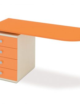 Παιδικό-γραφείο-πορτοκαλι-χρώματος-με-συρταριέρα